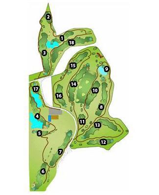 El Robledal Golf Course map