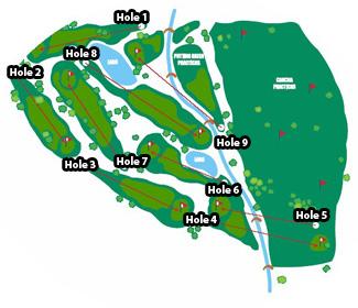Las Rejas Open Club Golf Course map