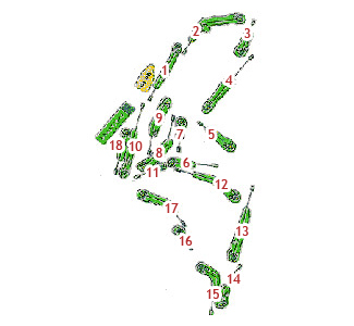Nuevo Madrid Club Golf Course map