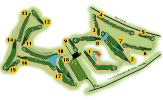 Augusta Calatayud Golf Course map