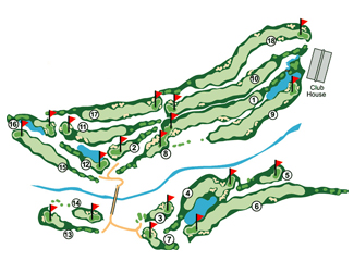 Los Lagos Golf Course map