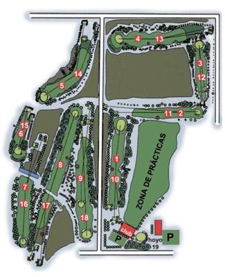 Real Aeroclub Zaragoza Golf Course map