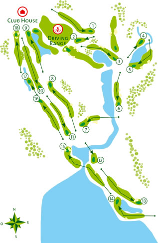 Vilamoura Laguna Golf Course Course Map Score Card - Portugal golf map