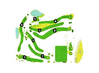 La Morgal Golf Course map