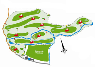 Madera III Golf Course map
