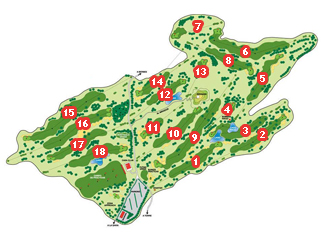 La Rasa de Berbes Golf Course map