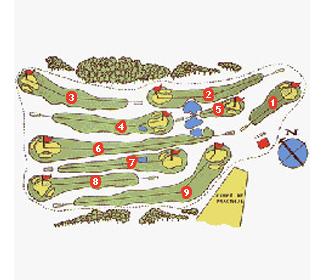Zuia Club Golf Course map