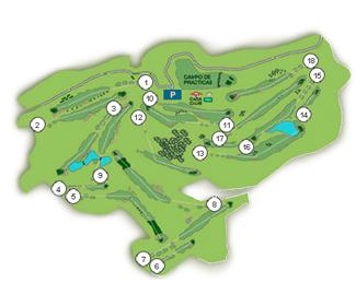 San Sebastián Basozaba Golf Course map