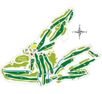 Real San Sebastián Golf Course map