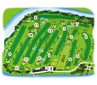 Abra del Pas Golf Course map