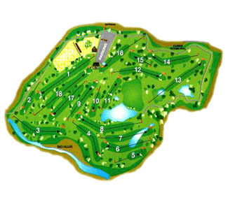 Nestares Golf Course map