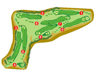 El Bonillo Golf Course map