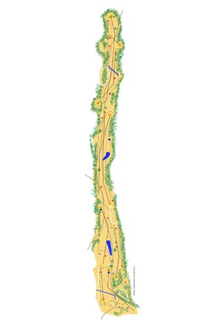 La Vereda Golf Course map