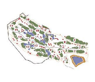 El Fresnillo Golf Course map