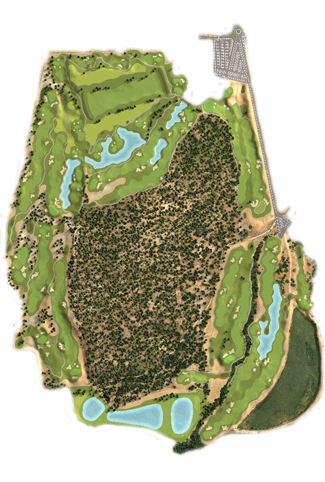 La Almarza Resort Golf Course map