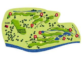 Navaluenga Golf Course map