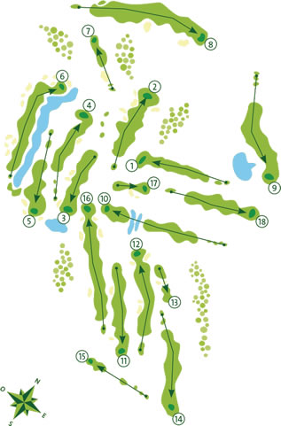Vale do Lobo Ocean Course Map