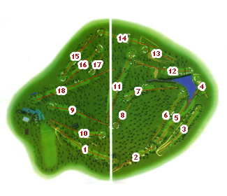 Salamanca Golf Course map