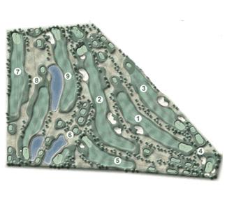 Las Llanas S.L. Ctra. Fresno Golf Course map