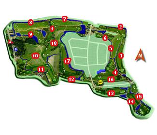Aldeamayor Golf Course map