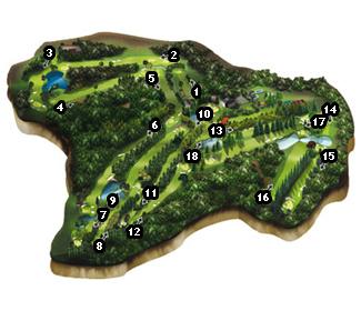 La Coruña Golf Course map