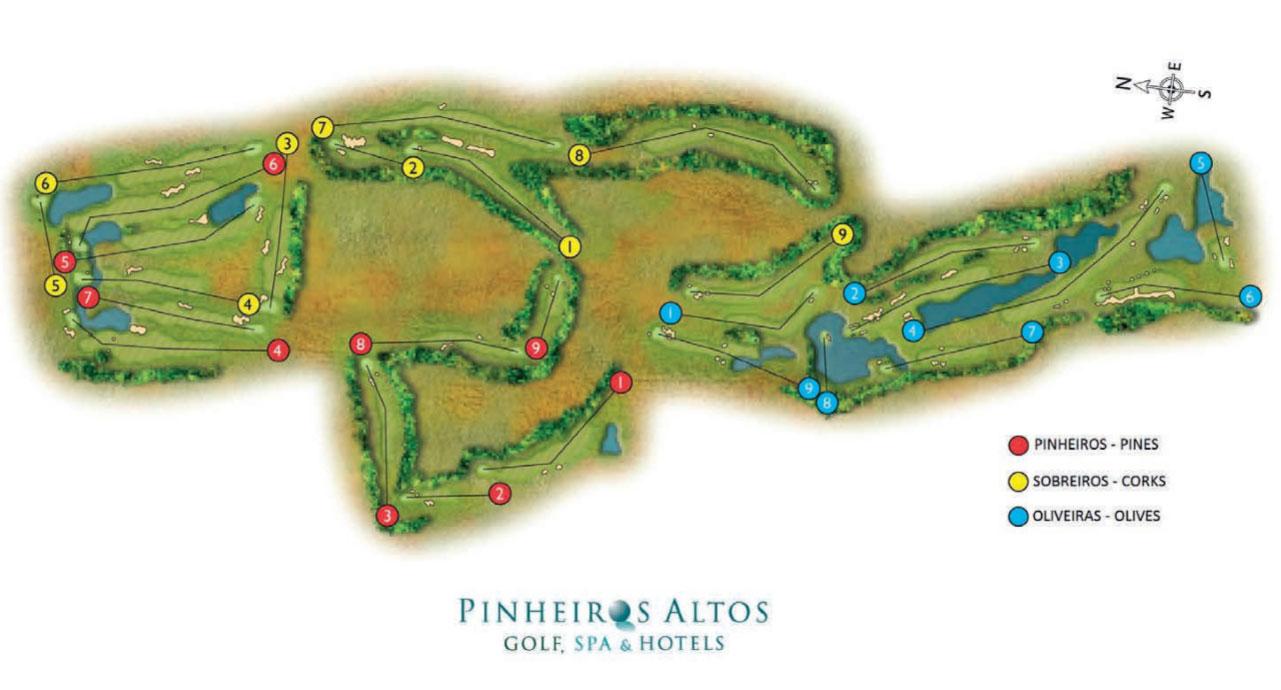 Pinheiros Altos Course Map