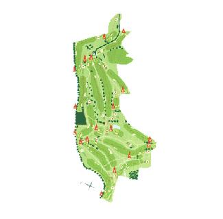 Mondariz Golf Course map