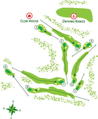 Pine Cliffs Golf Course Map