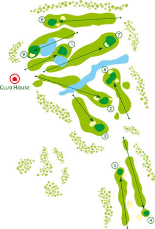 Course Map Balaia Golf Course