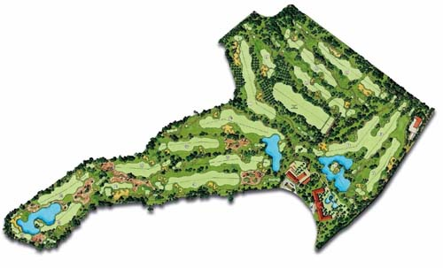 Roda Golf Course map
