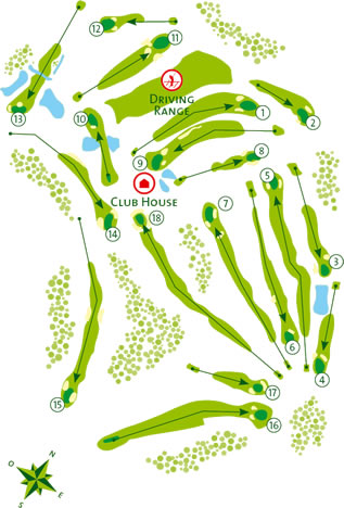 Benamor Golf Course map