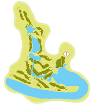 Costa Esuri (Spain) Course Map