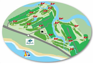 Isla Canela Alg. Course Map