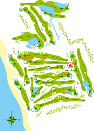 Course Map Quinta da Ria Golf Course