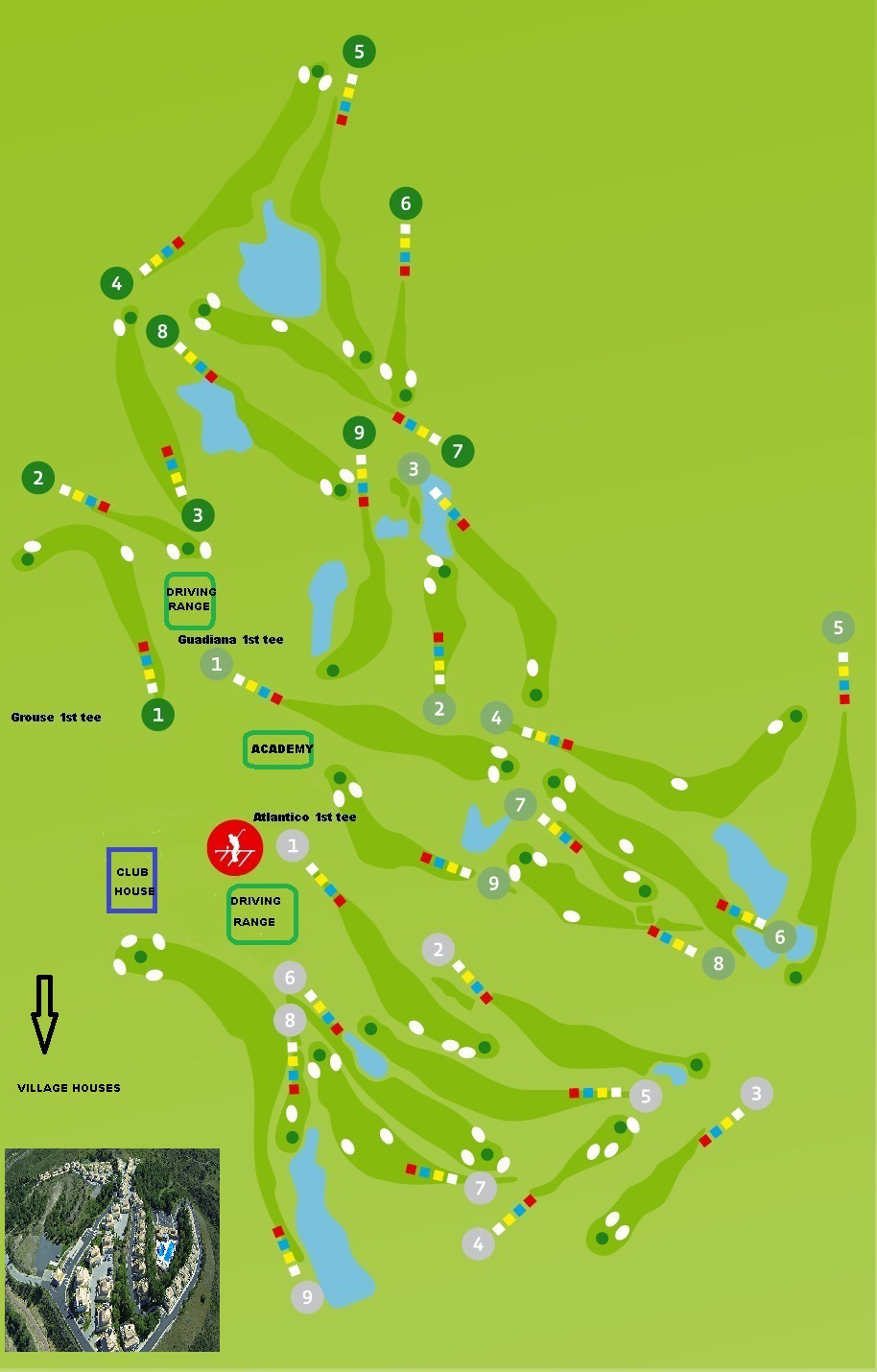 Course Map Castro Marim Golf Course