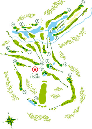Quinta do Vale Golf Course Course Map