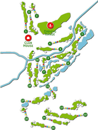 Oceânico Faldo Golf Course map