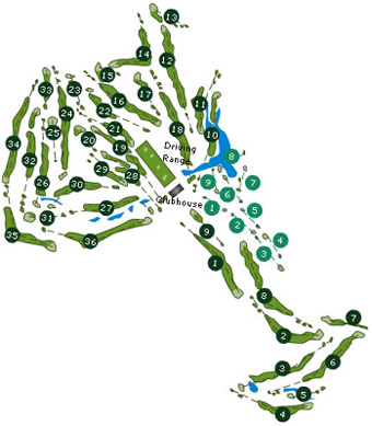 Porto Santo Golfe Course Map
