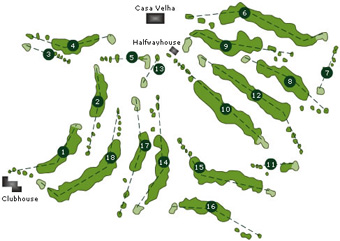 Portugal Golf CoursesPalheiro Golf Course Scorecard Course Map - Portugal golf map