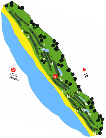 Estela Golf Club Course Map