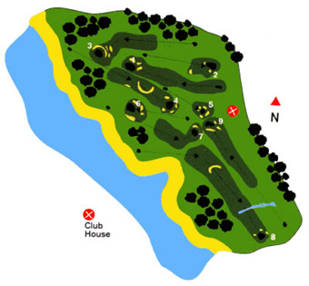 Club Golf Miramar Course Map