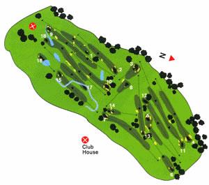 Oporto Golf Club Course Map